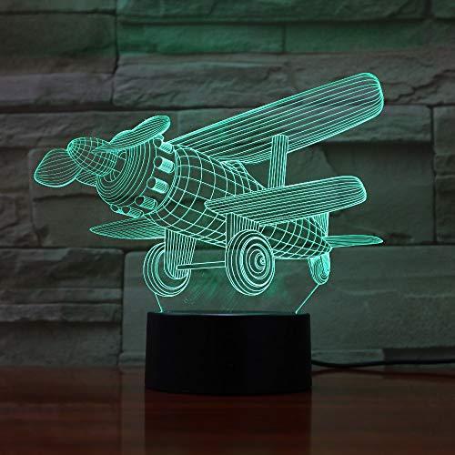 Combattant 3D Lampe Veilleuse Optique Illusions 7 Changement de Couleur Acrylique Toucher Tableau Lampe de Bureau pour Enfants Chambre Noël Cadeaux d'anniversaire,Interrupteur Tactile