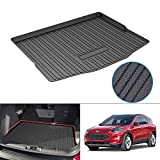 KUSTCustom Cargo Mat for 2020 2021 2022 Ford Escape Hybrid & No-Hybrid Cargo Liner All Weather Trunk Liner Tray Black TPO