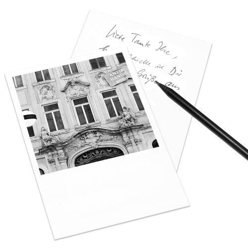 COGNOSCO Postkarte Leipzig im Polaroid-Look - Motiv: Katharinengasse