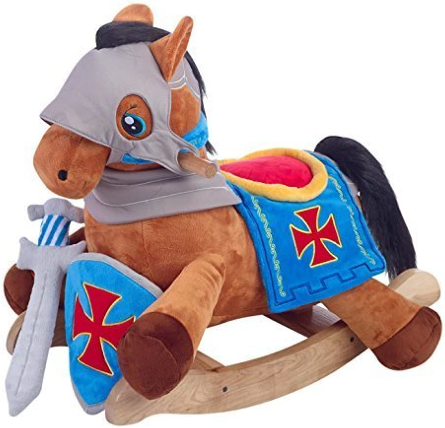 perfecto Rockabye Knight's Horse Horse Horse Jugar & Rock Ride On by Rockabye  encuentra tu favorito aquí
