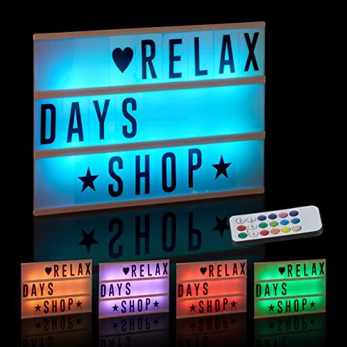 Relaxdays -  , weiß Lightbox mit