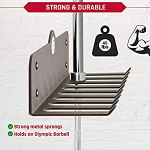 ChampStuff Gym Storage Rack, Workout Equipment Organizer, Wall Hooks for Home Gym Fitness and Exercise Accessories Like Resistance Bands Jump Rope Weight Lifting Belt Chains, Hardware and Included