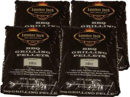 Lumber Jack BBQ 80 Pounds Pellet Assortment (Pick 4 x 20 Pound Bags) See Description for Flavors