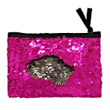 Winmany Sequin Makeup Bag Reversible Cosmetic Bag, Fashion Women Handbag Bling Glitter Evening Party Bag,Sparkling Shiny Clutch Handbag Wedding Bag Purse Wallet Pouch