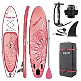 10.6FT Premium Inflatable Stand Up Paddle Board (6 inches Thick) with SUP Accessories & Carry Bag | Wide Stance, Surf Control, Non-Slip Deck, Leash, Paddle and Pump , Standing Boat for Youth & Adult