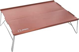 キャンプ テーブル ミニ コンパクト アルミ 折りたたみ 軽量 アウトドア 登山 ツーリング ミニテーブル ソロキャンプ 収納袋付き