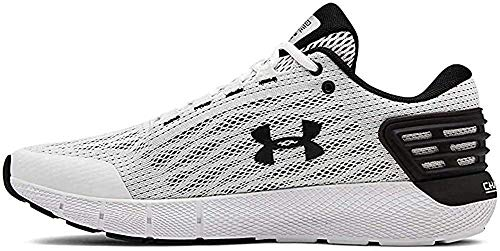 Under Armour Men's Charged Rogue Running Shoe, White (104)/Black, 14