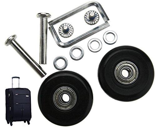 Kit de reparación de Ruedas para Maletas (2 Pares, 40 mm)