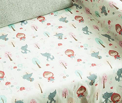 Super suave y transpirable colchón recién nacido 130cm * 70cm 100% sábanas de algodón cuna Armarios bebé suave colchón de cubiertas impresas niño recién nacido del lecho de los niños Mini Cuna Hoja De