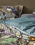 Essenza, biancheria da letto Iris con fiori in raso di cotone denim, 135 x 200 cm + 1 federa 80 x 80 cm