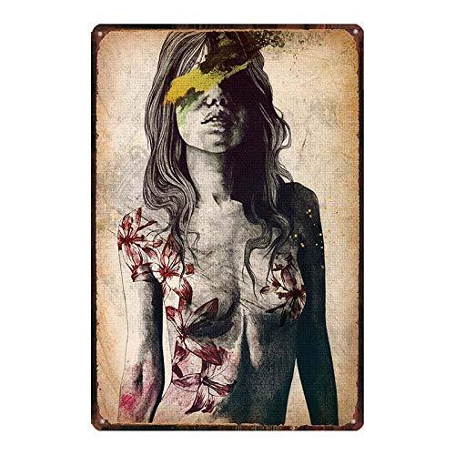 Monroe cartel de la película estrella amante del sexo chica de metal estaño placa retro pared bar restaurante arte familiar cine tienda de tatuajes decoración etiqueta de la pared 20x30cm DU-7279