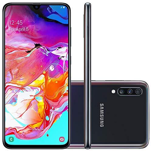 Smartphone Samsung Galaxy A70, 128Gb, Tela 6.7'', Preto, Sm-A705Mzkjzto