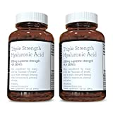 Hyaluronic Acid 300mg x 360 tablets (2 bottles of 180 tablets per bottle - 6 months supply). Triple Strength Hyaluronic Acid. 300% stronger than any other HLA tablet. SKU: HLA3x2 by Pureclinica