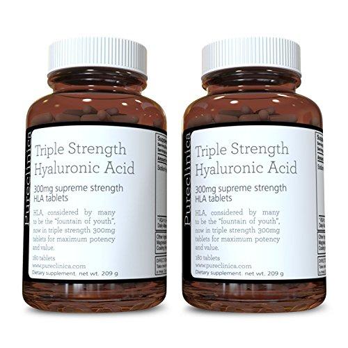 Acido Ialuronico 300mg x 360 compresse (fornitura da 6 mesi). Acido Ialuronico a Tripla Forza. 300% volte più forte di ogni altra compressa di AI SKU: HLA3x2
