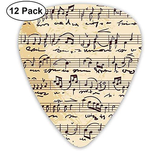 Partitura musical escrita a mano Guitarra clásica de celuloide Elección para bajo...
