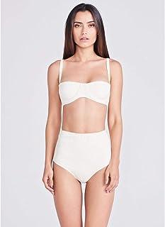 Top Meia Taça Calcinha Hot Pant Off White