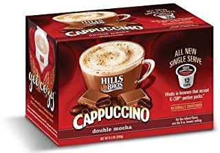Hills Bros Double Mocha Cappuccino Keurig K-Cups, 12 Count (Pack of 2)