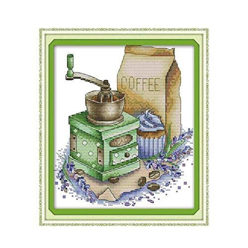 ▶ Molinillo De Cafe En Punto De Cruz