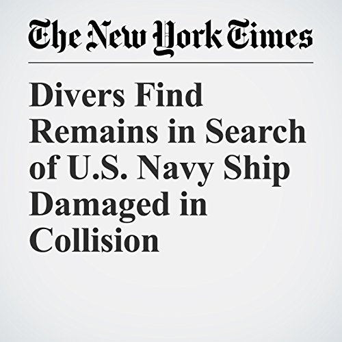 Divers Find Remains in Search of U.S. Navy Ship Damaged in Collision copertina