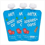 Happa Organic Baby Food, (Apple + Oat Puree), 6 Months+, 3 Pouch 100g