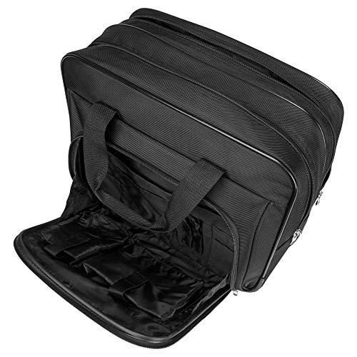 Targus Metro Rolling Laptop Case Bag for Business Commuter with Durable Water Resistant, Expandable Compartments, Trolley Strap, Padded Protection fits up to 16-Inch Notebook Screen, Black (TBR003US)