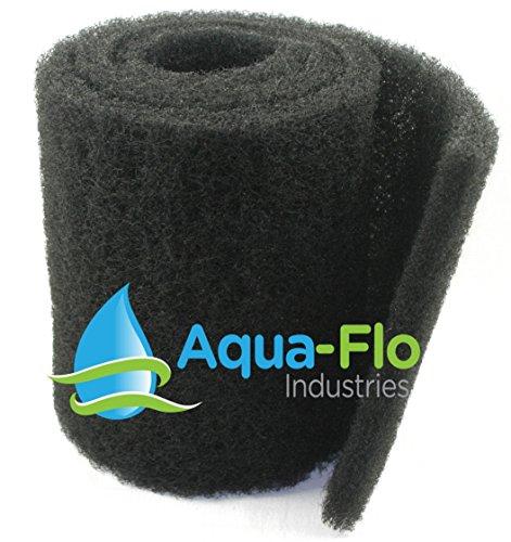 Aqua Flo 12'x 60'x 1.25' Coarse Black Universal Pond Filter Mat