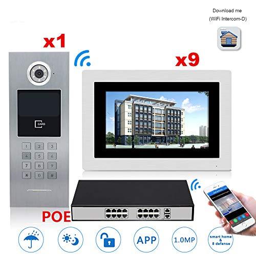Best Buy! TQ 7'' Touch Screen IP WiFi Video Door Phone Intercom Switch 9 Floors Building Access Cont...