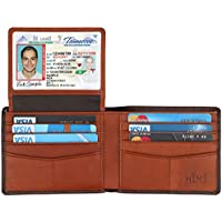 HIMI Genuine Leather RFID Blocking Bifold Stylish Men's Wallet With 2 ID Window