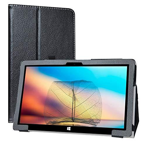 LiuShan Compatible con Jumper EZpad 6 Pro Case/EZpad 6s Pro Funda, Folio Soporte PU Cuero con Funda Caso para 11.6' Jumper EZpad 6 Pro 2 in 1 Tablet/Jumper EZpad 6s Pro Window 10 Tablet PC,Negro