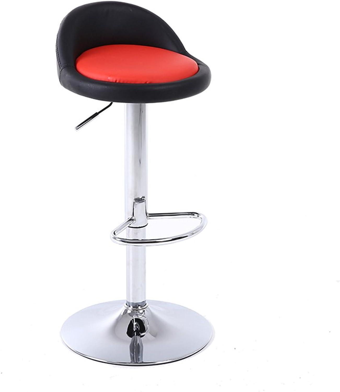 Bar Stool, Liftable Bar Stool redatable Backrest Chair Checkout Counter High Stool Household Bar Chair Bar Counter Casual High Chair 60-80cm (color    1)