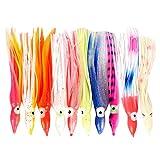 Homyl 10Piezas de Hilos Squid Faldas de Pesca Hilo Flake Fly Tying FAI Da Te Accesorios, Large