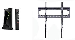 Nvidia Shield TV Pro, Procesador con Control Remoto, Chrome, Negro + Amazon Basics - Soporte de Pared Plano para televisió...