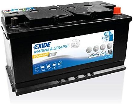 EXIDE - BATTERIE MARINE Equipment GEL - Spéciale bâteaux & caravanes - Batterie 12V - 80Ah - Haute performance