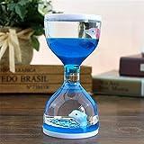 BIYI Liquid Motion Floating Bubbler Timer Sensorische Spielen Neuheit Gag Schreibtisch Spielzeug Zappeln Spielzeug Kinder Aktivität (Blau) -