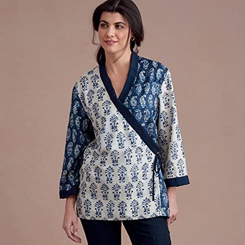 SIMPLICITY Schnittmuster S8952 Kimono-Jacken für Damen, Papier, weiß, versch.