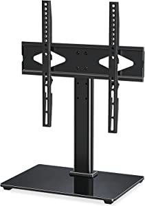 MOUNT PRO Universal TV Stand Base, Table Top TV Mount Stand Fits 37 to 55 inch LCD LED Flat Screen TVs, Height Adjustable TV Stand with Tempered Glass Base & Wire Management, VESA 400x400, up to 88lbs