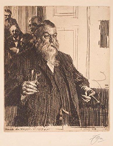 Das Museum Outlet–Anders Zorn–Ein Toast (Idun) II (Ätzen) 1893–A3Poster
