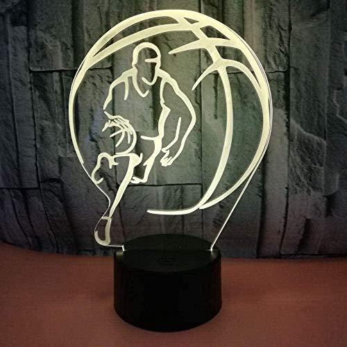 Baby Spielzeug Lámpara de ilusión 3D LED, luz nocturna de baloncesto, 16 colores cambiantes, táctil, bruja para niños, habitación de fútbol