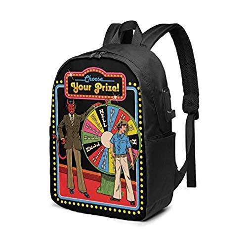 ZZYY Elija su premio mochila de 17 pulgadas con portátil USB utilizado para viajes y colegios de negocios