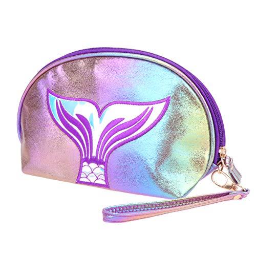 TENDYCOCO Kosmetiktasche Fischschwanz Hologramm glänzend Make-up Beutel Geldbörse für Frauen Damen Mädchen-colorfulm