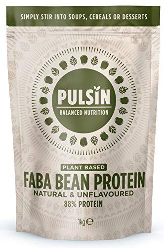 Pulsin Faba Bean Plant-Based Protein Powder Gluten Free Vegan, 1 kg