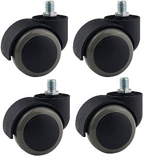 2 pouces Chaise Bureau Roulettes 360° Polyuréthane Roulettes Pivotantes Charge 160kg Roulettes pour Meubles Accessoires Ch...