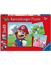 Ravensburger- Puzzles 3x49 pièces-Super Mario Enfant, 4005556051861