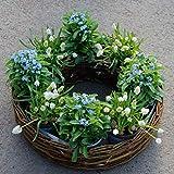 Oster-Weidenkranz Ø 50 cm im Set inkl. 8 Pflanzen + 20 Liter Blumenerde