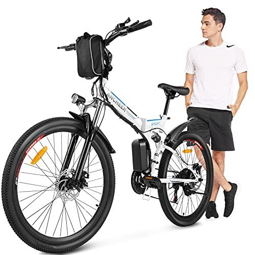 Bicicletas Eléctricas Plegables De Montaña Marca ANCHEER