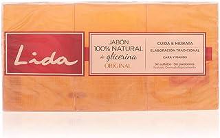 Lida Jabón 100% Natural con Glicerina - 3 Unidades