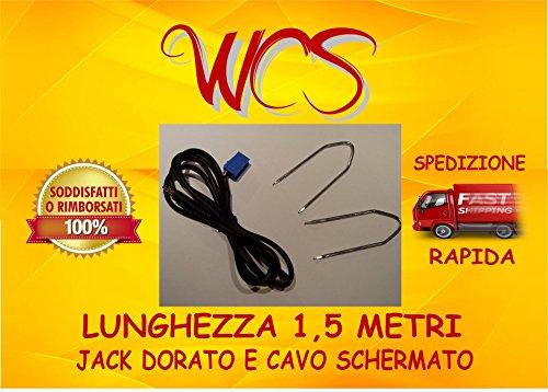 """KIT cavo aux Fiat Grande Punto, Punto Street, Punto EVO radio Delphi Grundig dal 2010 con scritta """"no source available"""", 500 e Lancia Ypsilon dal 2013 SENZA Blue&me installato"""