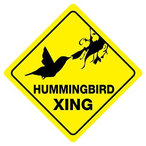 Hummingbird Crossing Funny Novelty Sign