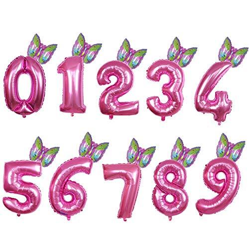 DAPANGZI 2 Piezas Globos De Papel De Animales Número De 30 Pulgadas Globo Aerostático Decoración De Fiesta De Cumpleaños Abeja Mono Mariposa Oveja Rana Globo Baby Shower, Verde Claro, 2