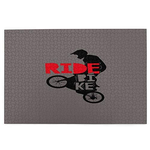 Rompecabezas de 1000 Piezas,Rompecabezas de imágenes,Cool BMX Design Ride Bike Bicicleta para hombres y niños - Juguetes puzzle for Adultos niños Interesante Juego Juguete Decoración Para El Hogar